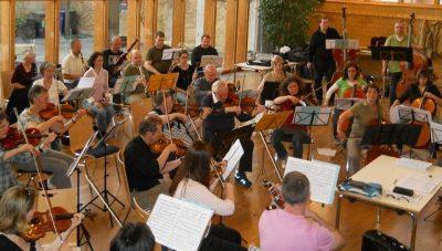 Das Orchester bei einer seiner Proben